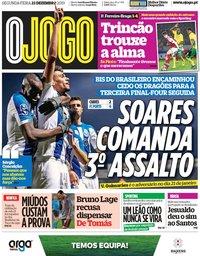 capa Jornal O Jogo de 23 dezembro 2019