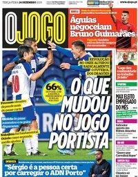 capa Jornal O Jogo de 24 dezembro 2019