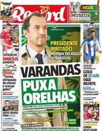 capa Jornal Record de 3 dezembro 2019