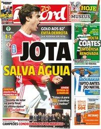 capa Jornal Record de 4 dezembro 2019