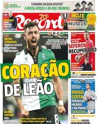 capa Jornal Record de 5 dezembro 2019