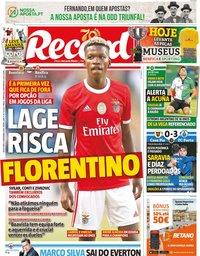 capa Jornal Record de 6 dezembro 2019