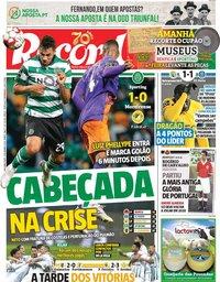 capa Jornal Record de 9 dezembro 2019