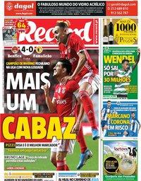 capa Jornal Record de 15 dezembro 2019