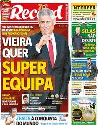 capa Jornal Record de 21 dezembro 2019