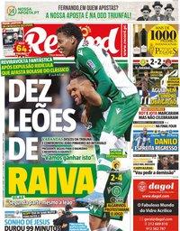 capa Jornal Record de 22 dezembro 2019