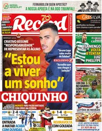 capa Jornal Record de 23 dezembro 2019