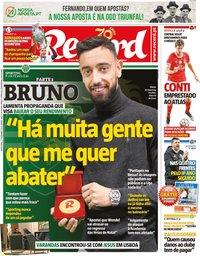 capa Jornal Record de 27 dezembro 2019