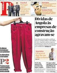 capa Público de 1 dezembro 2019