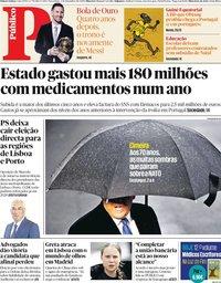 capa Público de 3 dezembro 2019