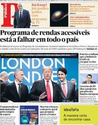 capa Público de 5 dezembro 2019