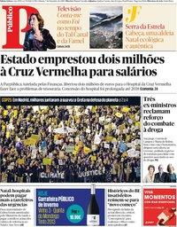 capa Público de 7 dezembro 2019