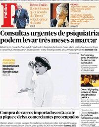 capa Público de 16 dezembro 2019