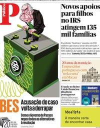 capa Público de 19 dezembro 2019