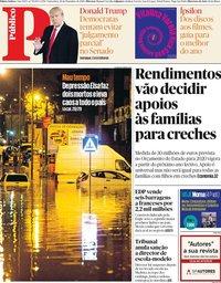 capa Público de 20 dezembro 2019