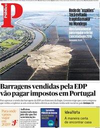 capa Público de 28 dezembro 2019