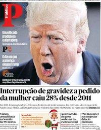 capa Público de 29 dezembro 2019