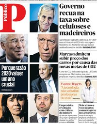 capa Público de 30 dezembro 2019