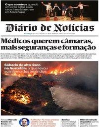 capa Diário de Notícias de 3 janeiro 2020