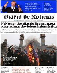 capa Diário de Notícias de 7 janeiro 2020