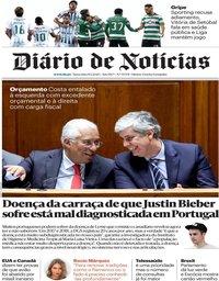 capa Diário de Notícias de 10 janeiro 2020