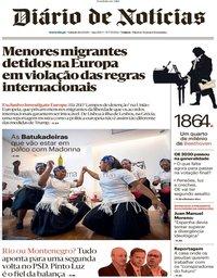 capa Diário de Notícias de 11 janeiro 2020
