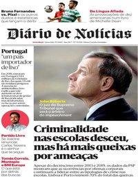 capa Diário de Notícias de 17 janeiro 2020