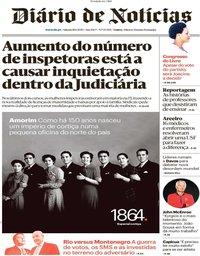 capa Diário de Notícias de 18 janeiro 2020