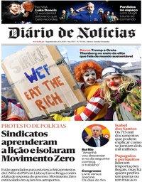 capa Diário de Notícias de 20 janeiro 2020