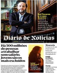 capa Diário de Notícias de 21 janeiro 2020