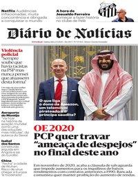 capa Diário de Notícias de 23 janeiro 2020