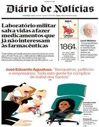 capa Diário de Notícias de 25 janeiro 2020