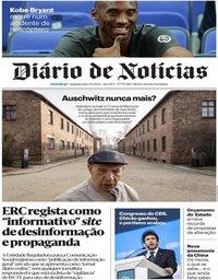 capa Diário de Notícias de 27 janeiro 2020