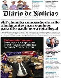 capa Diário de Notícias de 30 janeiro 2020