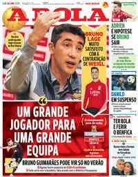 capa Jornal A Bola de 4 janeiro 2020