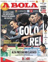 capa Jornal A Bola de 5 janeiro 2020