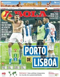 capa Jornal A Bola de 6 janeiro 2020