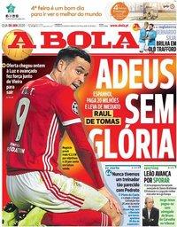 capa Jornal A Bola de 8 janeiro 2020