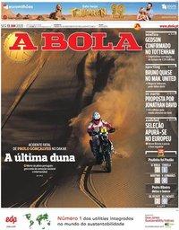 capa Jornal A Bola de 13 janeiro 2020