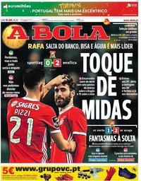 capa Jornal A Bola de 18 janeiro 2020