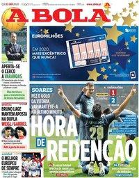 capa Jornal A Bola de 23 janeiro 2020