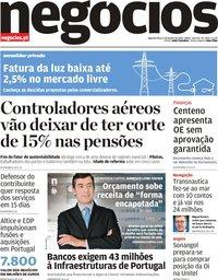 capa Jornal de Negócios de 6 janeiro 2020