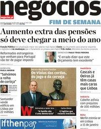 capa Jornal de Negócios de 10 janeiro 2020