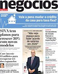 capa Jornal de Negócios de 20 janeiro 2020