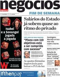 capa Jornal de Negócios de 31 janeiro 2020