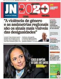 capa Jornal de Notícias de 1 janeiro 2020