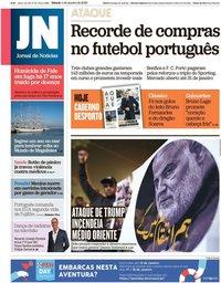 capa Jornal de Notícias de 4 janeiro 2020