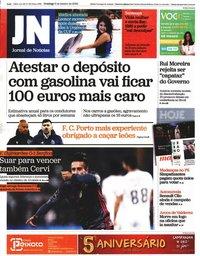 capa Jornal de Notícias de 5 janeiro 2020
