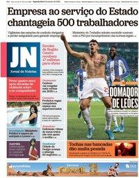 capa Jornal de Notícias de 6 janeiro 2020