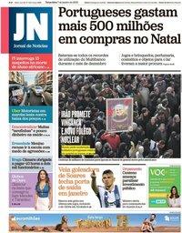 capa Jornal de Notícias de 7 janeiro 2020